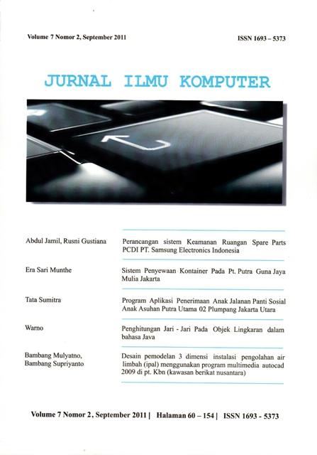 Jurnal Ilmu Komputer Volume 7 seri 2, September 2011
