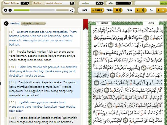 Software Holly Qur'an free full version