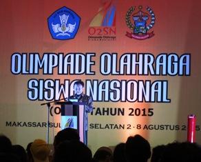 Jawa Timur Juara Umum O2SN 2015 di Makassar
